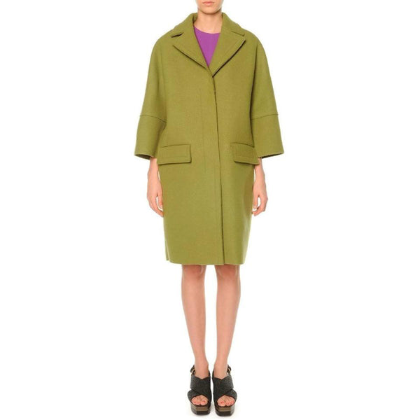Marni Lime Green Pressed Wool Coat