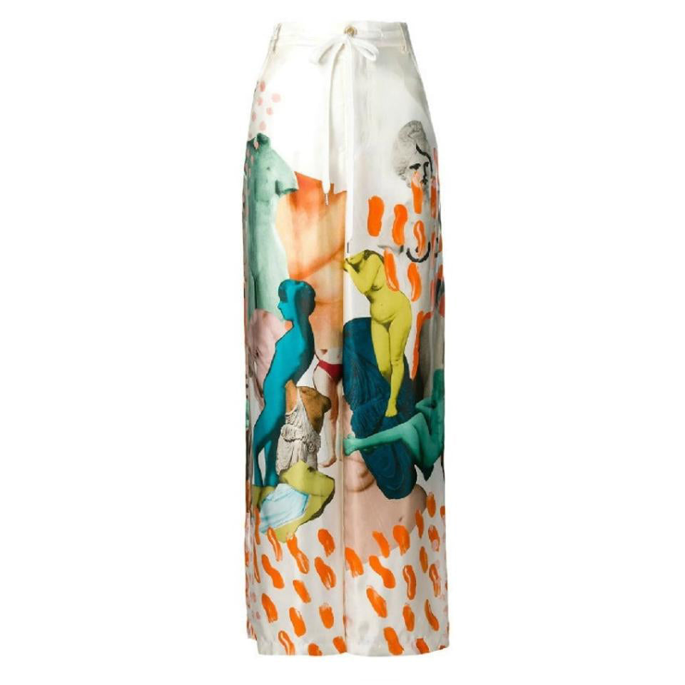 Marni Multicolor Art Collage Pants