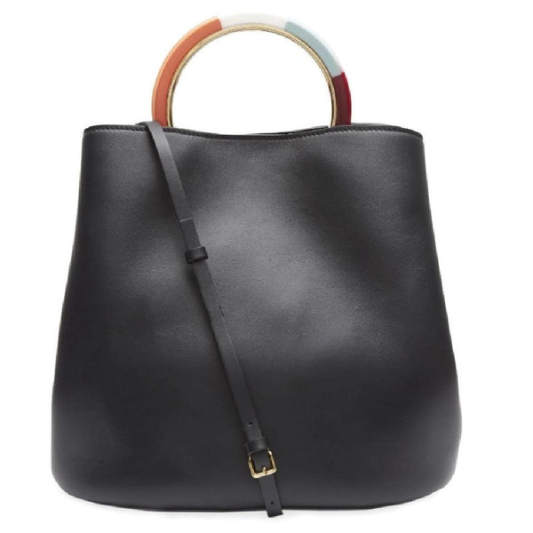 Marni Pannier Black Leather Tote