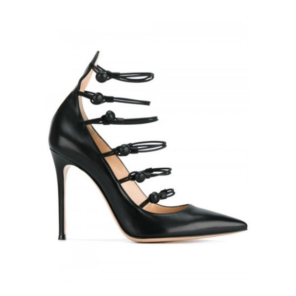 Marquis Black Pumps by Gianvito Rossi side