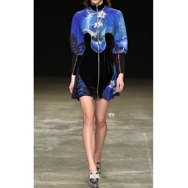 MARY KATRANTZOU Blue Fairies Faylinn Dress