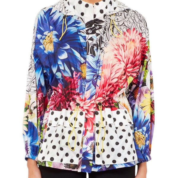 MARY KATRANTZOU Hot Pink / Black / White Dahlia Jacket