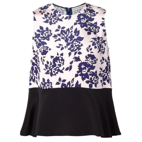 MARY KATRANTZOU Pink / Blue Rosario Blouse