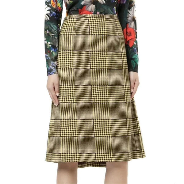 MARY KATRANTZOU Yellow / Purple Prince Of Wales Skirt