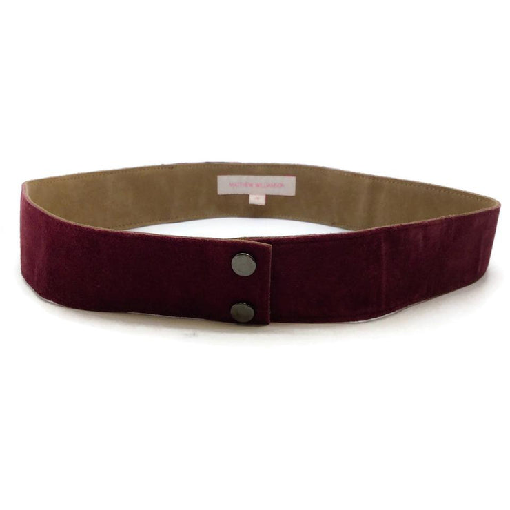 Matthew Williamson Burgundy Suede with Stones Belt