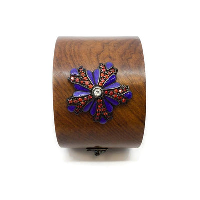 M.C.L by Matthew Campbell Laurenza Wood Flower Emblem Bracelet