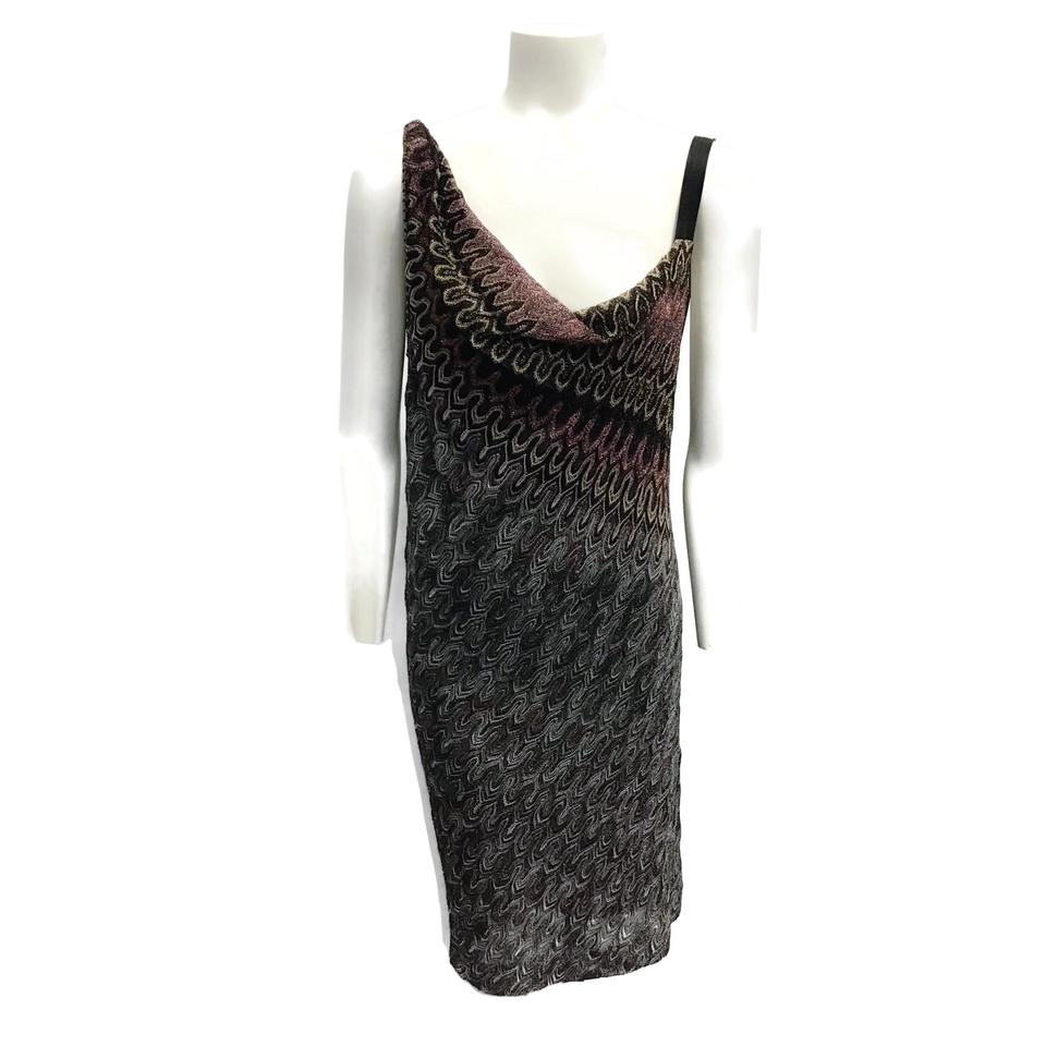 Missoni Multi-color Metallic Knit Dress