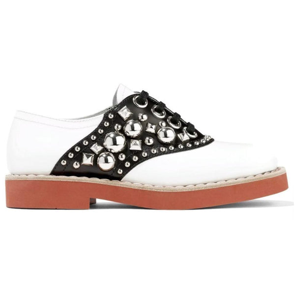 Miu Miu Black / White Oxford Flats