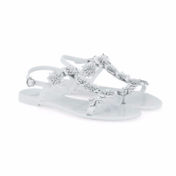 Amandine White Sandals by Moncler