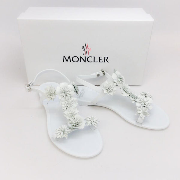 Amandine White Sandals by Moncler with box
