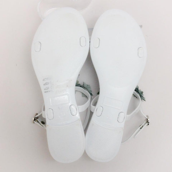 Amandine White Sandals by Moncler 36