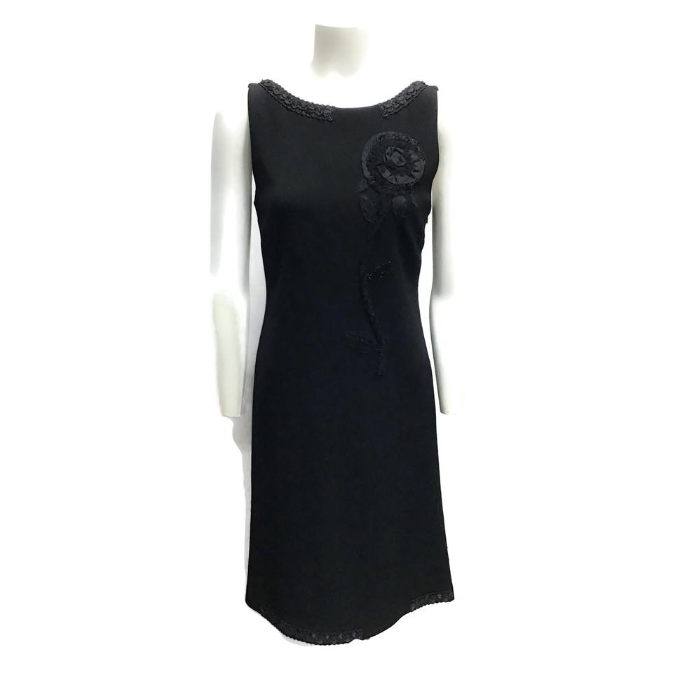 Moschino Black Applique Dress