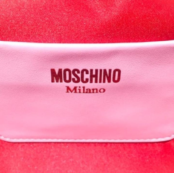 Pink Tassel Satchel by Moschino interior logo