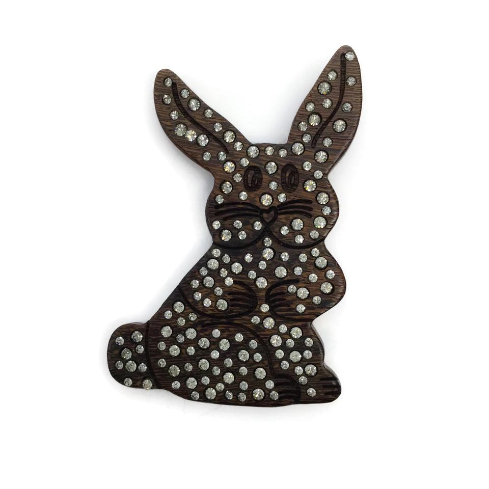 Moschino Wood Crystal Bunnie
