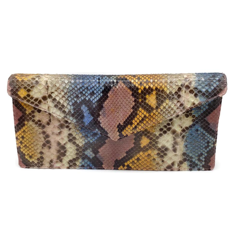 Jilly New York Multi-color Snakeskin Clutch