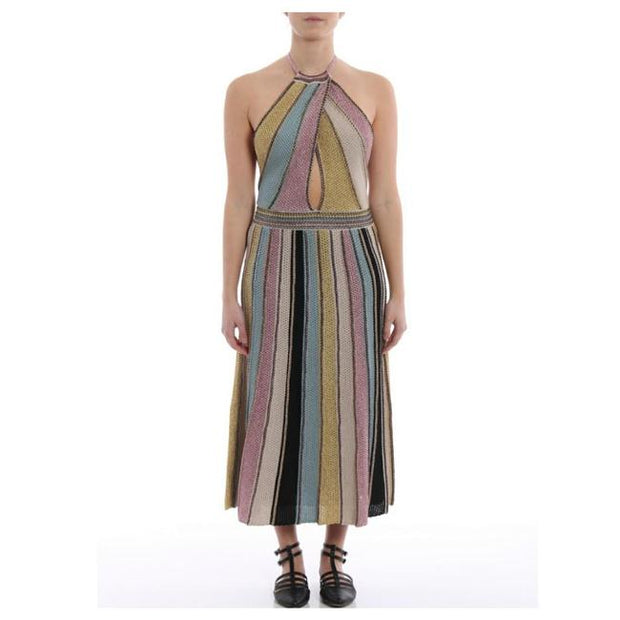 M Missoni Vertical Stripe Crochet Dress