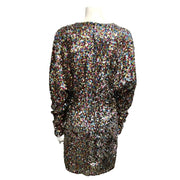 The Attico Multicolor Sequin Night Out Dress