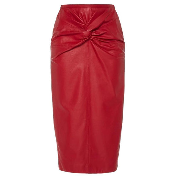 N°21 Red Twist Front Skirt