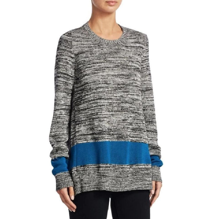 N°21 Split Black / White / Blue Sweater