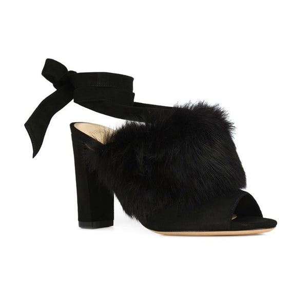 Neena Black Mules by Alexandre Birman