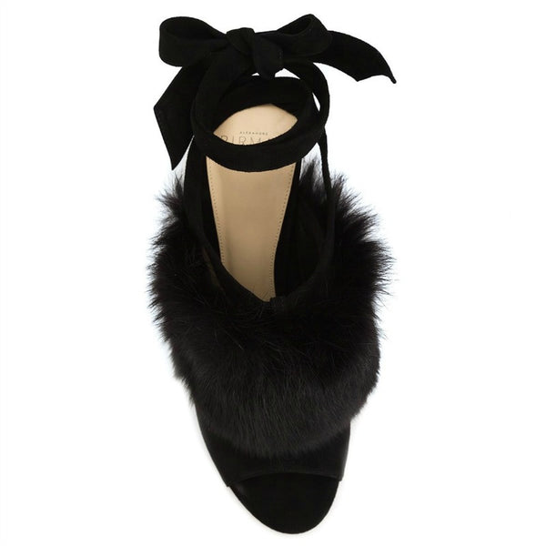 Neena Black Mules by Alexandre Birman top