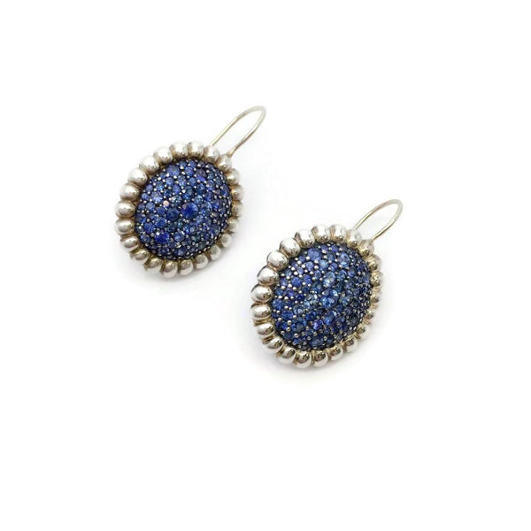 SLANE Sterling Silver Sapphire Earrings