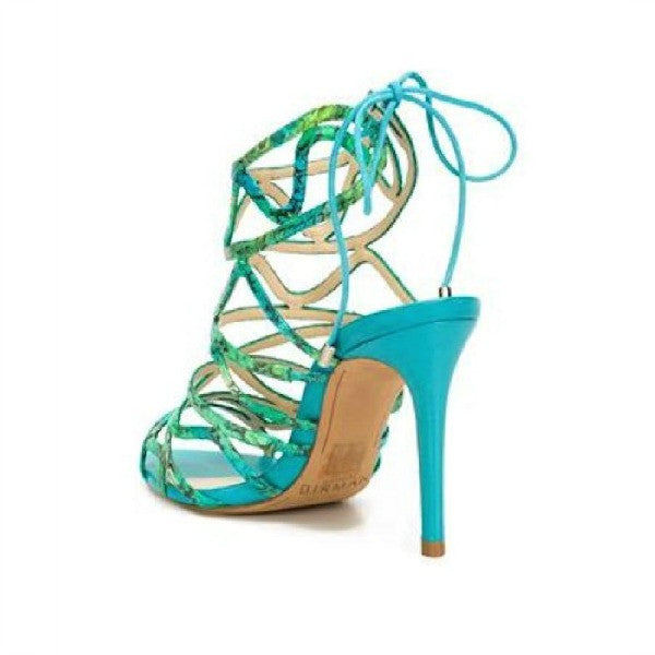 Nim Turquoise Sandals by Alexandre Birman back