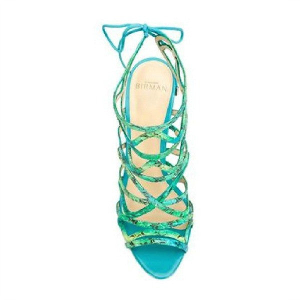 Nim Turquoise Sandals by Alexandre Birman top