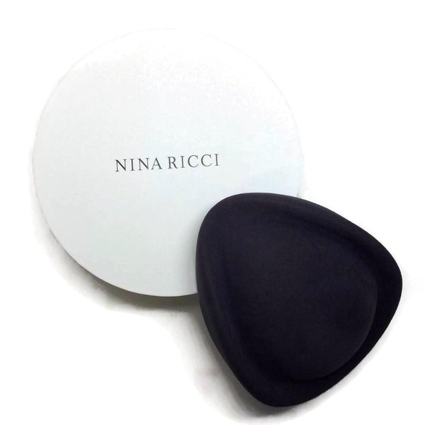 Nina Ricci Charcoal Grey Rabbit Fur Felt Pillbox Hat