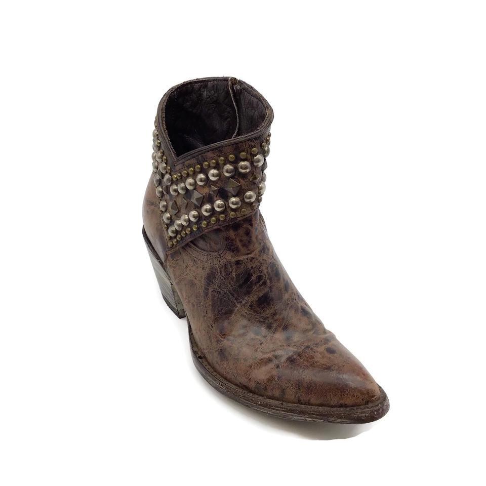 Old Gringo Brown Studded Leather Boots
