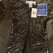 Oscar de la Renta Black Beaded Jacket