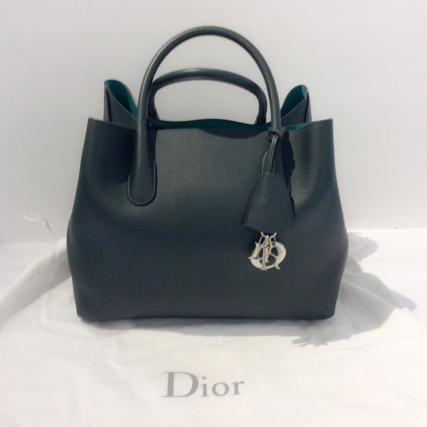 Green Tote Bag With Strap by Christian Dior with dust bag