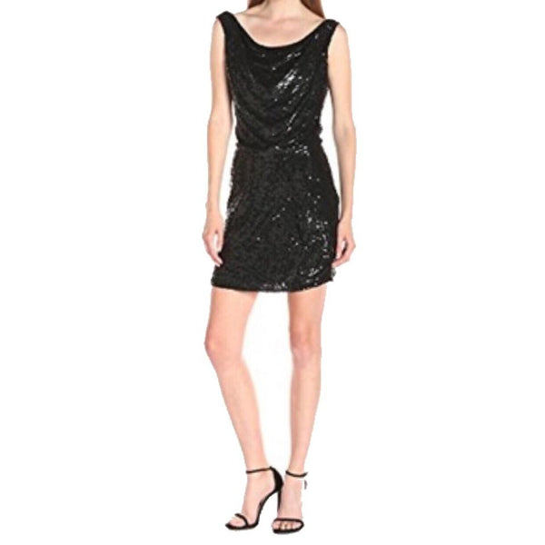 Parker Black Sequin Reagan Cocktail Dress