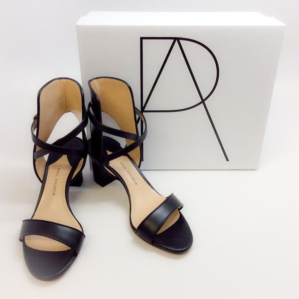Lexington Black Sandals by Paul Andrew with box