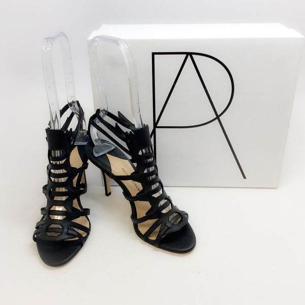Attica Black Sandals by Paul Andrew with box