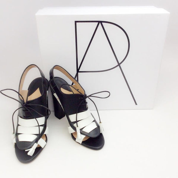 Dimitros Black / White Pumps by Paul Andrew with box