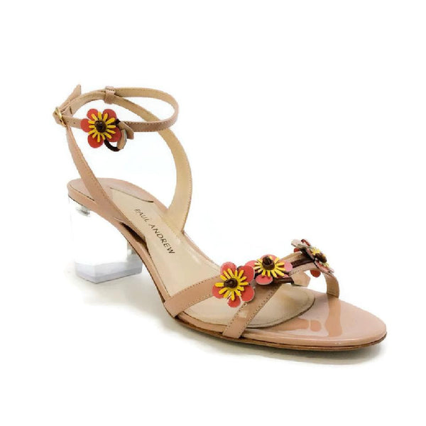Floella Nude Sandals by Paul Andrew