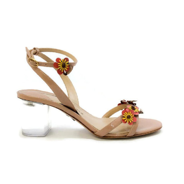 Floella Nude Sandals by Paul Andrew outside