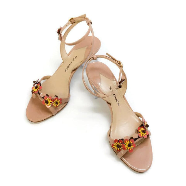Floella Nude Sandals by Paul Andrew pair