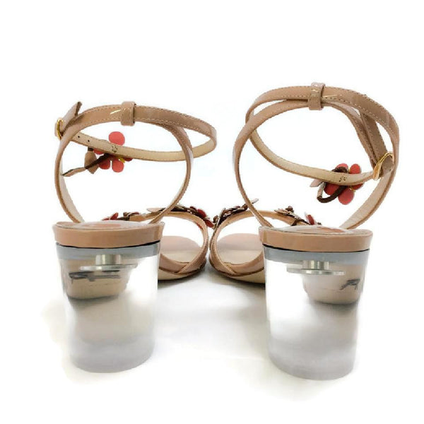 Floella Nude Sandals by Paul Andrew back