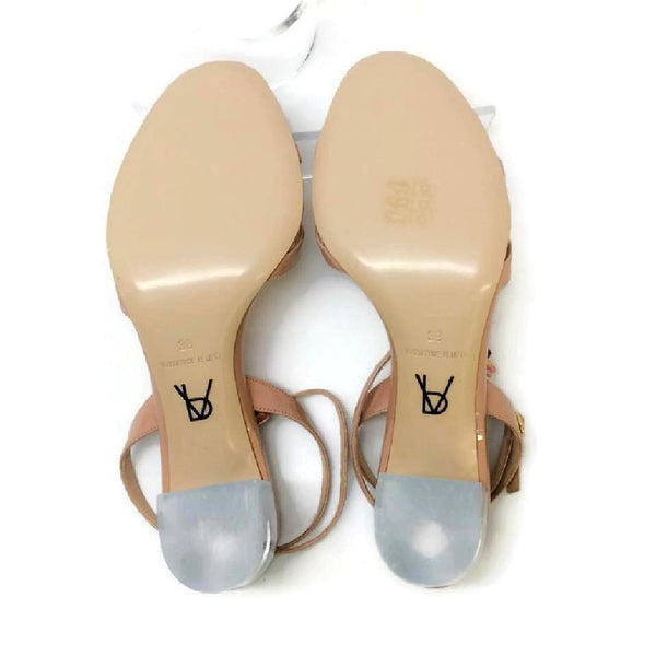 Floella Nude Sandals by Paul Andrew 38