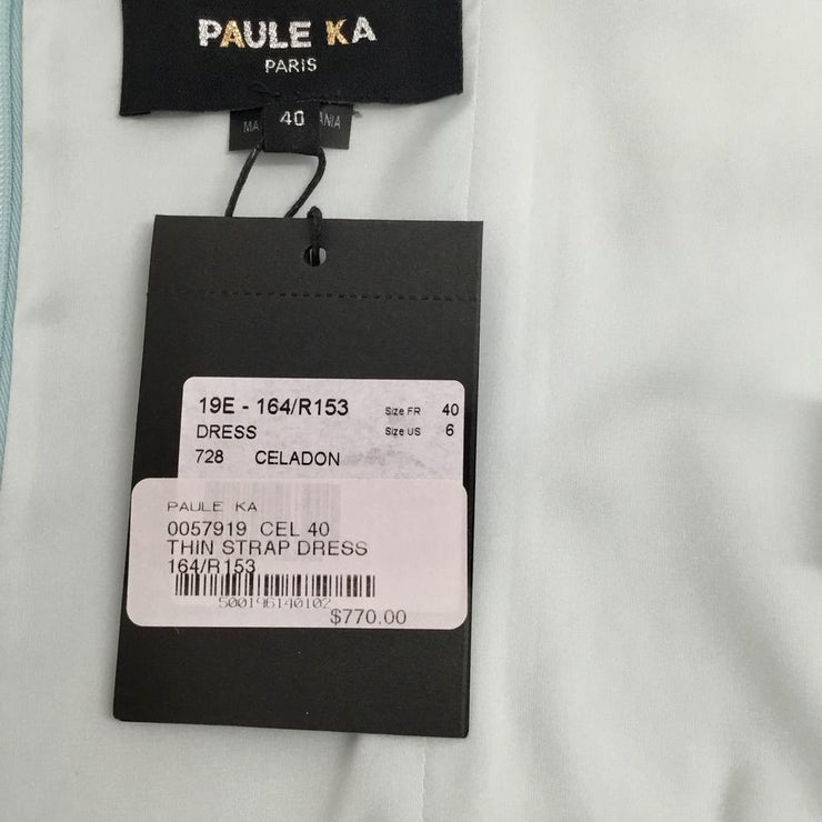 PAULE KA Light Blue Buckle Cocktail Dress