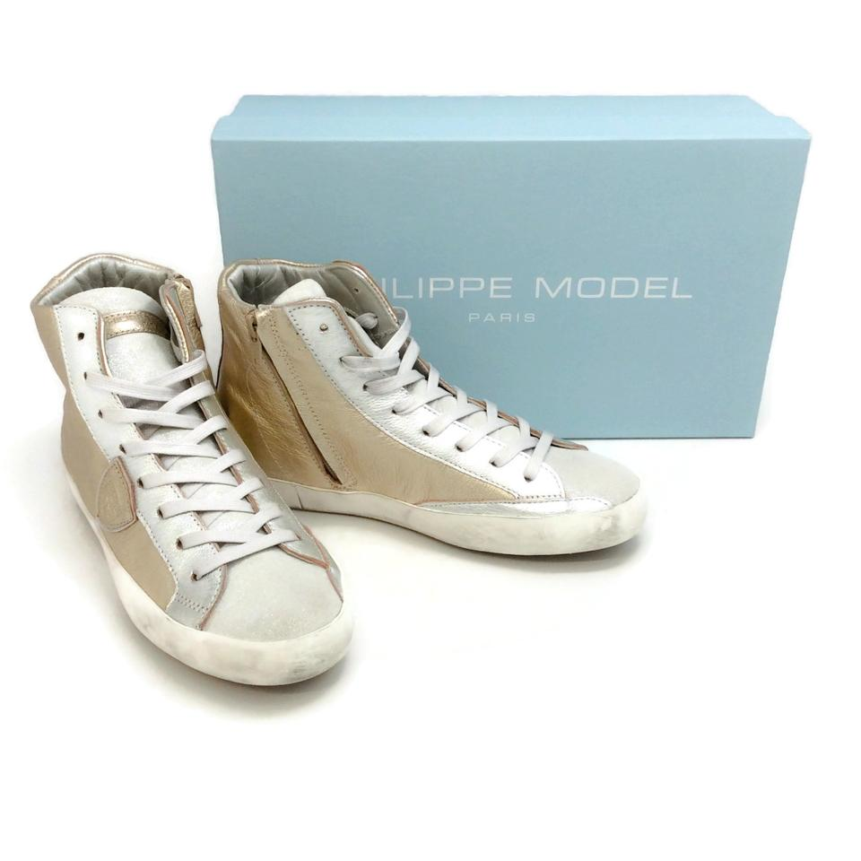 Philippe Model Mixage Metal Platino Paris Hd Sneakers