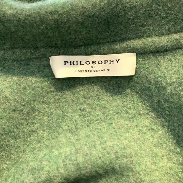 Philosophy Green / Grey Wool Coat