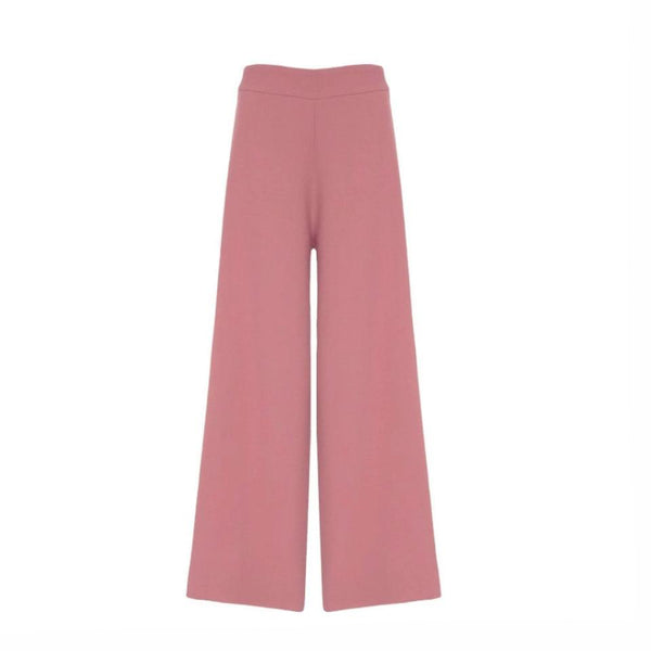 Bouguessa Pink Wool Crepe Pants
