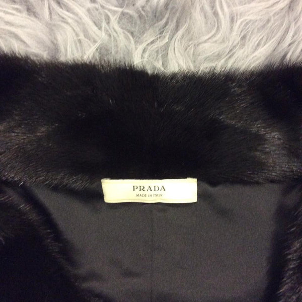 Suede Persian Lamb And Mink Coat by Prada label