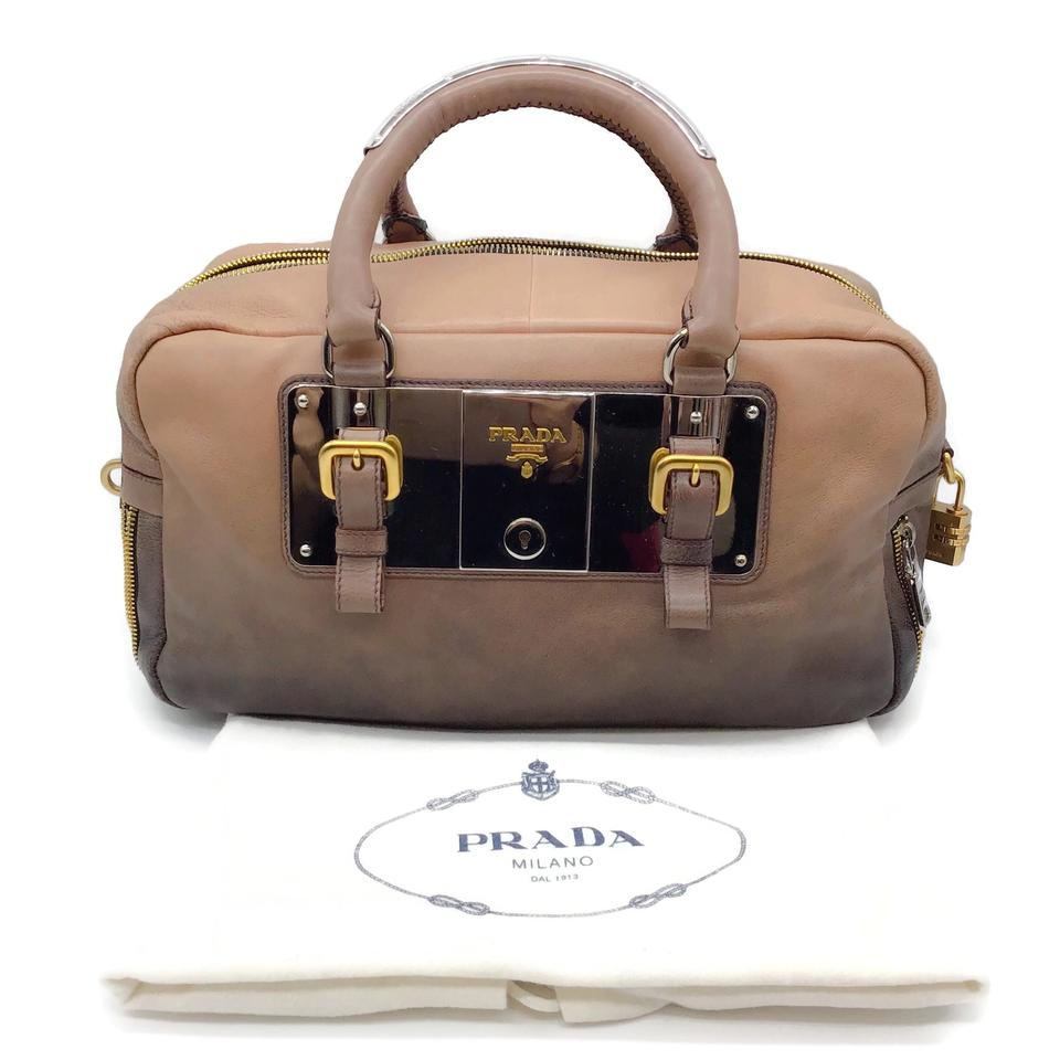 Prada Ombre Brown Leather Satchel