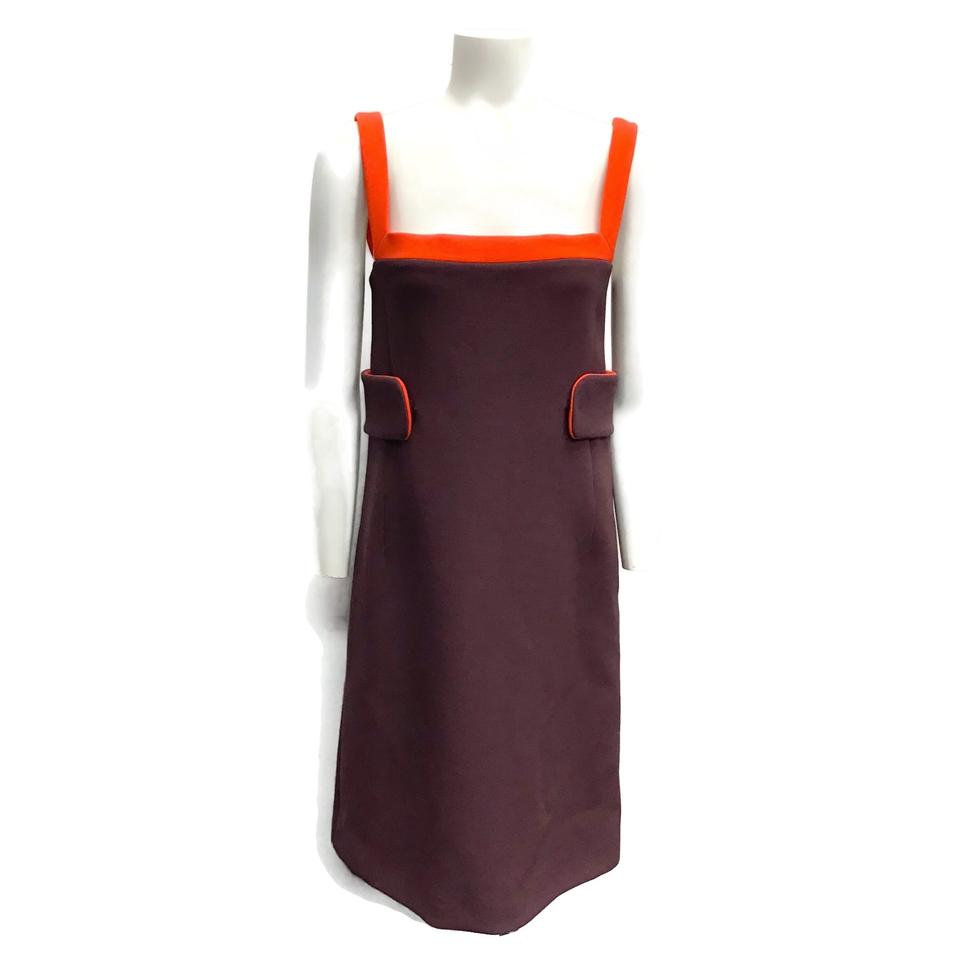 Prada Plum/Orange Wool Dress