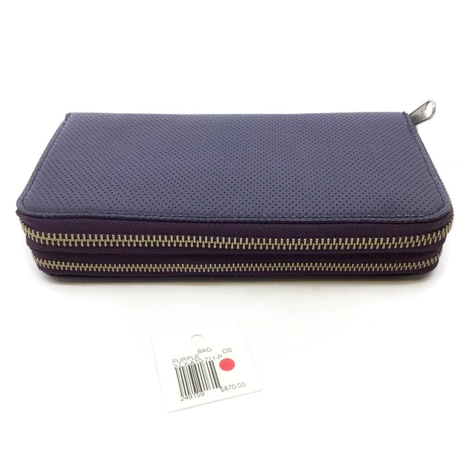 Limi Feu Purple Patent Zip Around Wallet