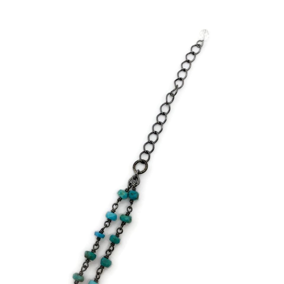 Rachel Reinhardt Turquoise Star Spinel Necklace